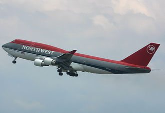 Launch Customer Northwest Airlines introduced the 747-400 in 1989. Northwest Airlines Boeing 747-400 Spijkers.jpg
