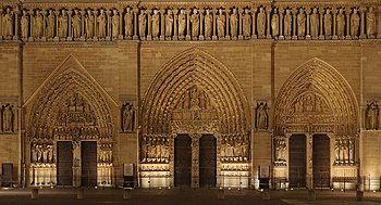 Notre Dame Paris front facade lower.jpg