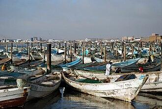 Nouadhibou - Ships in Nouadhibou's harbour