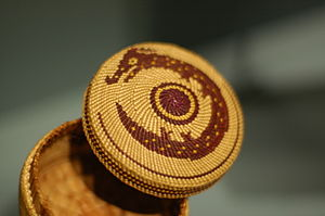 Nuu-chah-nulth - Nuu-chah-nulth basket about two inches wide