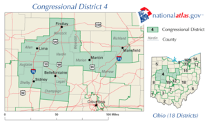 United States House of Representatives elections in Ohio, 2008 - Image: OH04 109