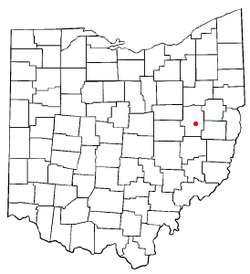 Location of Tuscarawas, Ohio