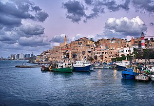 Jaffa Port - Jaffa Port with Tel Aviv in the background