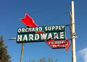 Orchard Supply Hardware - Image: OSH Neon San Carlos