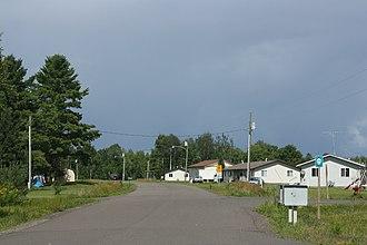Odanah, Wisconsin - Image: Odanah Wisconsin Looking North