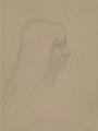 Odilon Redon, Profil d'une femme (d'après Le portrait d'Isabelle d'Este de Léonard de Vinci).png