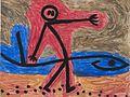 Ohne Titel (Mann mit Fisch) by Paul Klee.jpg