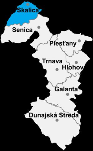 Skalica District - Image: Okres skalica