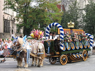 Bavarians - The Oktoberfest in Munich, the most widely-known festival of Bavarian culture, held since 1810 (2006 photograph).