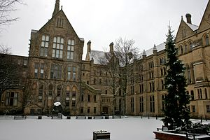 University of Manchester - The Old Quadrangle at the University of Manchester's main campus on Oxford Road.