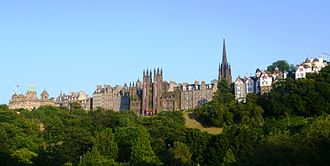 Old Town, Edinburgh - The Old Town seen from Princes Street