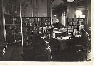 American Library in Paris - The old circulation desk at the American Library in Paris