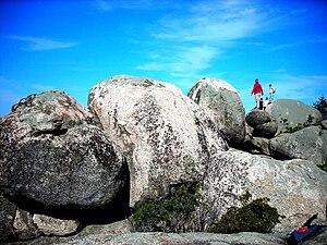 Old Rag Mountain - Rock scramble near the summit of Old Rag Mountain