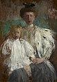 Olga Boznańska - Portrait of Julia Puget née Kwilecka with Her Son Jacek - MNK II-b-3754 - National Museum Kraków.jpg