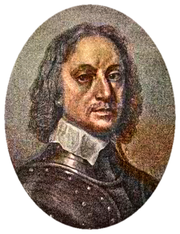 Oliver Cromwell coloured drawing