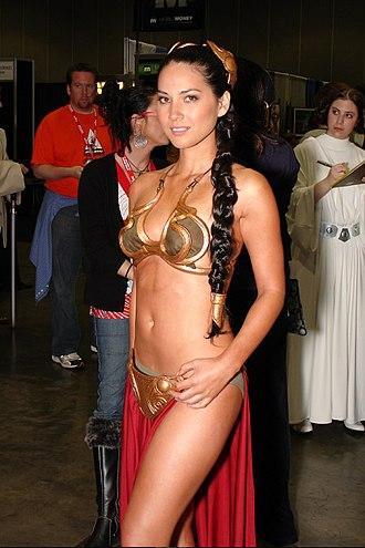 Princess Leia's bikini - Actress Olivia Munn