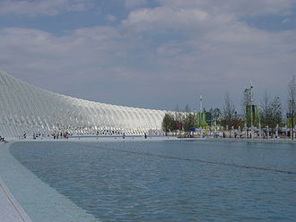 2004 Summer Olympics - The OAKA Plaza and Arch adjacent to the Olympic Stadium