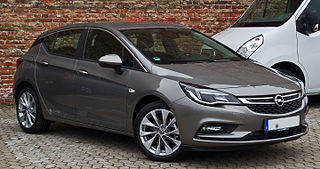 Opel Astra family car manufactured by Opel