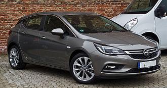 Opel Astra - German market 2015 model.
