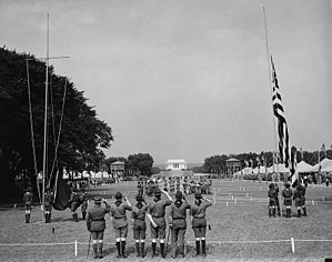National Scout jamboree (Boy Scouts of America) - Opening of the first jamboree, on the National Mall in Washington, D.C., June 30, 1937