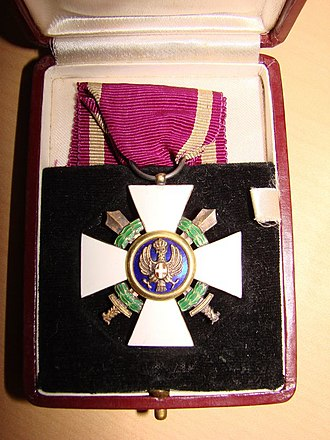 Order of the Roman Eagle - The insignia of Order of the Roman Eagle