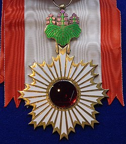 Order of the Rising Sun grand cordon badge (Japan) - Tallinn Museum of Orders.jpg