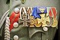 Ordnungspolizei parade uniform, Ostmedaille ribbon, Eiserne Kreuz 1914, Ehrenkreuz 1914-18, Dienstauszeichn. 1913-24, Polizei Dienstauszeich., Hungarian Haborus Emlekerem, Bulgarian medal 1915-18 Lofoten Krigsminnemuseum 980 brighter.jpg
