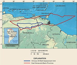 Oil reserves in Venezuela - Orinoco Belt assessment unit, USGS