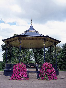 Ornamental bandstand in Castle Park - geograph.org.uk - 545315