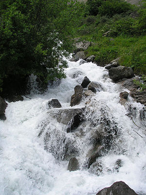 Fiagdon river rapids in North Ossetia