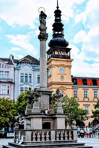 Ostrava - Marian Column (1702) at Masaryk square