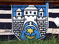 Ostrowiec Coat of Arms graffiti.JPG