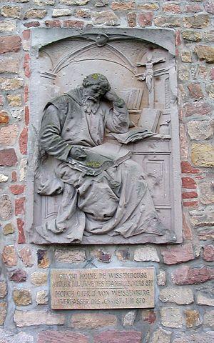 Otfrid of Weissenburg - Otfrid memorial in Wissembourg