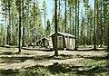 Overnight cabins at Älgsjögrunnan camping ground in Åsele, Lappland, Sweden (9502385384).jpg