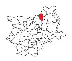 Location of Beli Manastir in Osijek-Baranja County