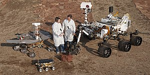 Rover (space exploration) - Three different Mars rover designs; ''Sojourner'', MER and ''Curiosity''.