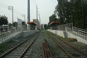 San Andres railway station - Trackbed and platform area of San Andres station