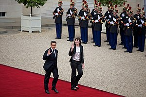 Carla Bruni - Nicholas Sarkozy and Carla Bruni leaving the Elysee Palace, 15 May, 2012