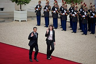 Carla Bruni - Nicholas Sarkozy and Carla Bruni leaving the Elysee Palace, 15 May 2012