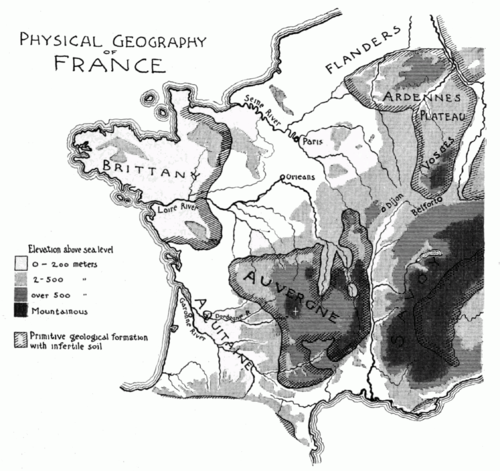 PSM V51 D303 Physical geography of france.png