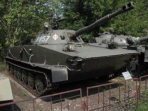 PT-76 amphibious light tanks at the Muzeum Polskiej Techniki Wojskowej in Warsaw.jpg