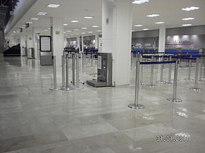 Licenciado Gustavo Díaz Ordaz International Airport - Airport ticket counters.
