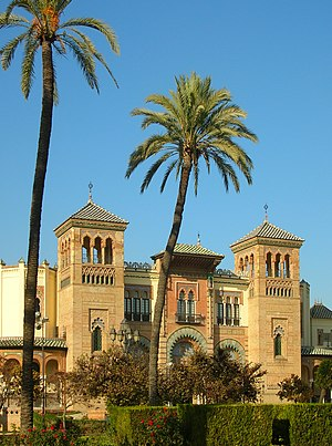 Lawrence of Arabia (film) - The Mudéjar pavilion of the Parque de María Luisa in Seville appeared as Damascus.