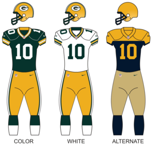 2016 Green Bay Packers season - Image: Packers 2015 uniforms