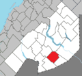 Packington Quebec location diagram.png