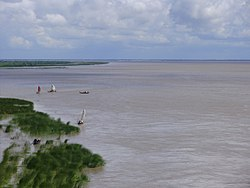 Padma river taken from lalol shah bridge.JPG