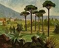 Paesaggio vesuviano. Olio su compensato. Milano anni '60.jpg