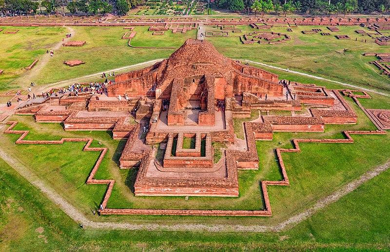 Ruins of the Buddhist Vihara at Paharpur.
