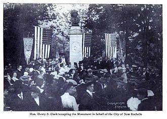 Thomas Paine Monument - Mayor Henry Clark accepting the Thomas Paine Monument on behalf of the City of New Rochelle, 1905