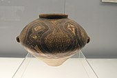 Painted Pottery Pot with Geometric Lattice Pattern.jpg